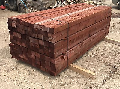4 x 3 (100 x 75mm) 2.4m (8ft) Length Timber, Tanalised, Pressure Treated