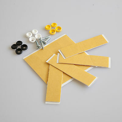 18 Pc Number Plate Fixing Kit, Pack, Screws, Caps, Sticky Pads, Adhesive Tape !