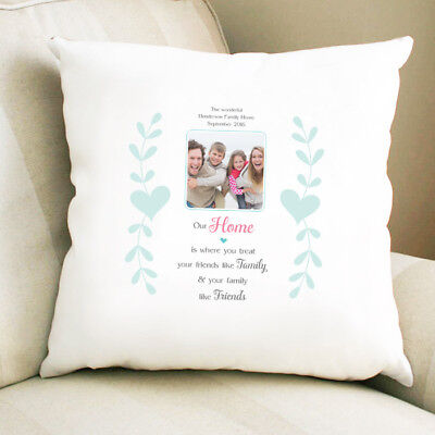 Personalised Photo Cushion Pillow Christmas Homeware Present For Mum Family Home