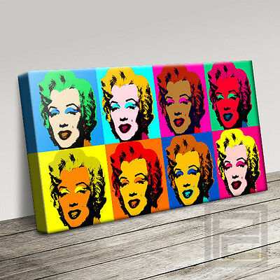 ANDY WARHOL MARILYN MONROE MODERN ICONIC CANVAS ART PRINT PICTURE Art Williams