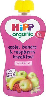 Hipp Organic Wholegrain Breakfast Cereal-Apple, Banana, Raspberry 6mth+(2x100g)
