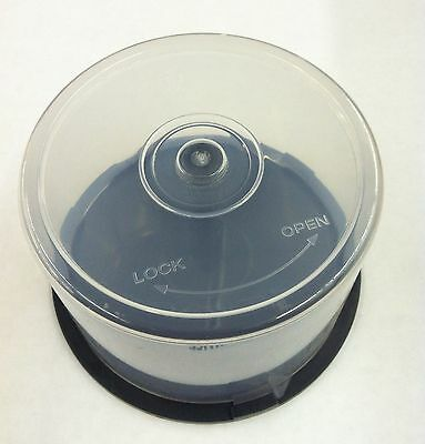 5 (Five) 50 Disc Capacity Cake Box for CD DVD Storage Case Spindle