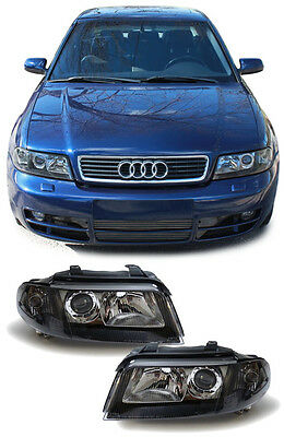 Black Projector Headlights Headlamps For Audi A4 B5 011999 09