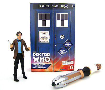 11th Eleventh Dr Doctor Who Collector Action Figure Electronic Sonic Screwdriver