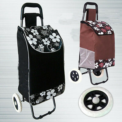New Folding Shopping Trolley Cart Bag Wheeled Rolling Utility Luggage Grocery