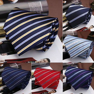 High Quality 8cm Solid Plain Satin Mens Wedding Tie Necktie Jacquard