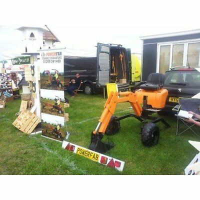 Powerfab PLANS for towable mini excavator digger backhoe 360 degree slew