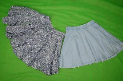 x2 Girls jeans skirt age 5-6 6 years flippy full skater tennis, super cute C066