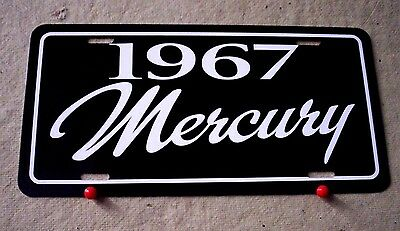 1967 Mercury license plate tag 67 COUGAR  Comet GT Cyclone Park Lane Monterey