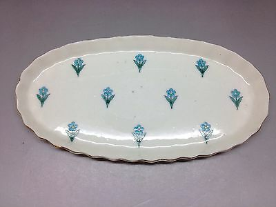 Goss Forget Me Not Miniature Oval Tray