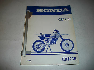 1982 Honda Cr125R  Motorcycle Factory Oem Shop Manual  Clean More Listed