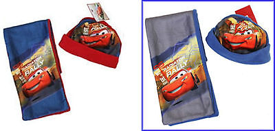 Toddler Junior Boys Kids Disney Cars Fleece Hat and Scarf Winter Set 1-4 years