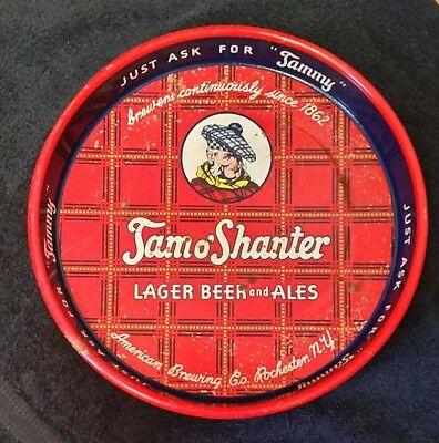 Vintage Tam o'Shanter Lager Beer and Ales Serving Tray 1933