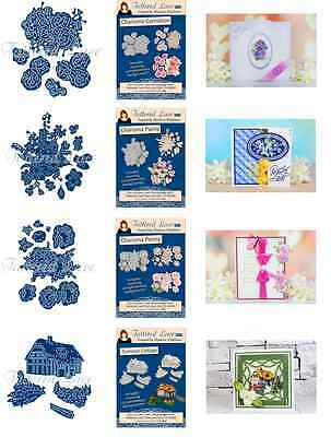 Tattered Lace Charisma Dies + CD-ROM -Pansy, Carnation, Peony, Summer Cottage