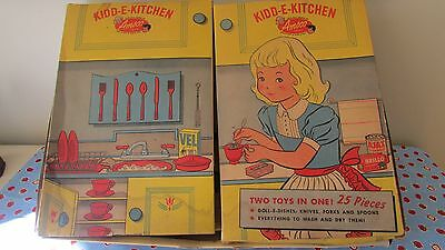Rare Vintage 1950's Amsco Kidd-E-Kitchen Complete With Original Box