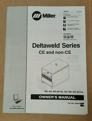Miller Electric Owner's Manual Deltaweld Series CE and non-CE OM-223