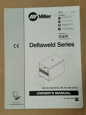 Miller Electric Owner's Manual Deltaweld Series OM-223