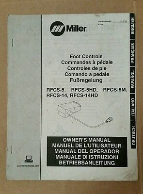 Miller Electric Owner's Manual Foot Controls Multilingual OM-8400