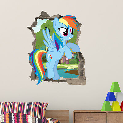 My Little Pony Rainbow Dash wall Kids Girls Bedroom Decal Wall Art Sticker Gift