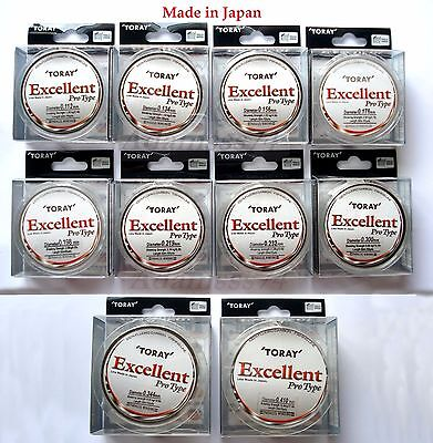 Toray Excellent Fluorocarbon 100% Japan Fishing Leader Line Clear Invisible 50m.