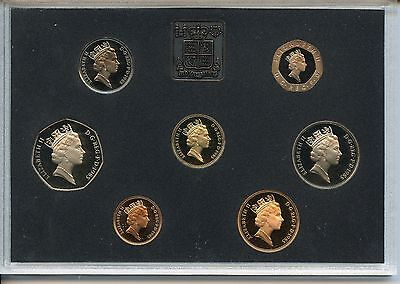 1985 Great Britain 7 Coin Proof Set with Medal Superb Brilliant UNC