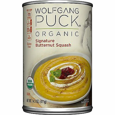 Wolfgang Puck Organic Signature Butternut Squash Soup, 14.5 Ounce Pack of 12