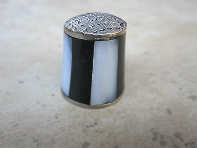 Vintage Thimble  Mother of Pearl Panels Made in Mexico