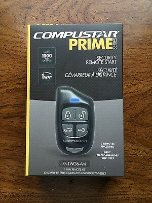 CompuStar RF-1WG6-AM Remote Kit. 1000ft Range for Remote Start or Alarm Systems