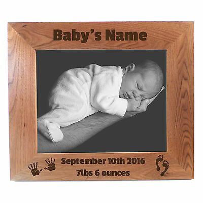 "PERSONALISED BABY GIFT 5x7"" PHOTO FRAME PERSONALISED ENGRAVED PICTURE FRAME"