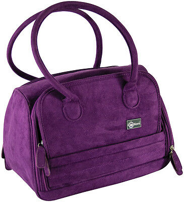Creative Options STORAGE TOTE BAG FAUX SUEDE PURPLE great for Cuttlebug Machine