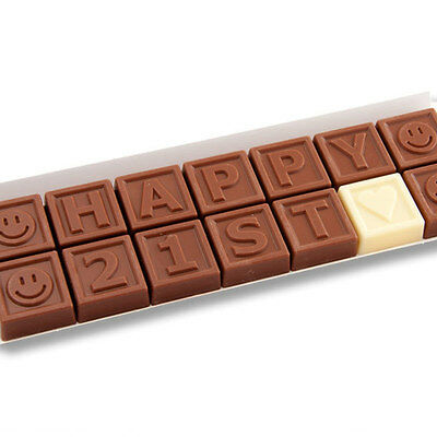 New 21st Birthday Gift Ideas chocogram gifts him her christmas
