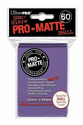 1800 30pk Ultra Pro Pro-Matte Small Mini Deck Protector Card Game Sleeves Purple