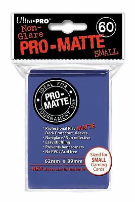 1800 30pk Ultra Pro Pro-Matte Small Mini Deck Protector Card Game Sleeves Blue