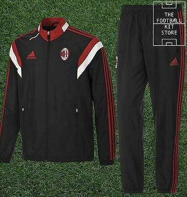 AC Milan Presentation Suit - Official Adidas Boys Tracksuit Wear -  All Sizes