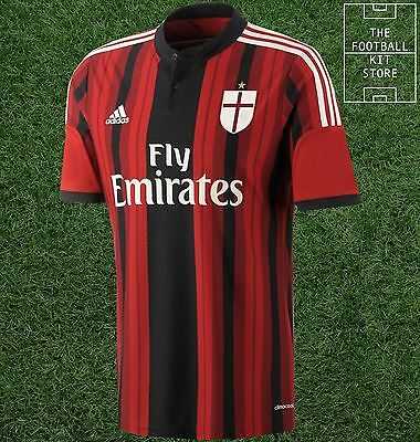 AC Milan Shirt - Official Adidas Boys Football Shirt - All Sizes