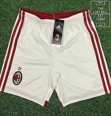 AC Milan Home Shorts - Official Adidas Boys Football Shorts - All Sizes