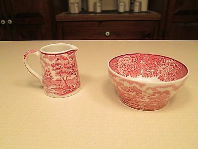 Enoch Woods English Scenery Mini Bowl and Pitcher