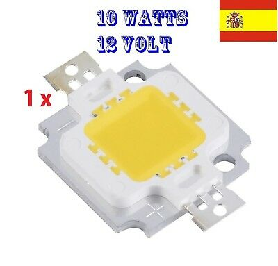 10x Led chip 10W super brillante smd cool white 5700K 6000K 124