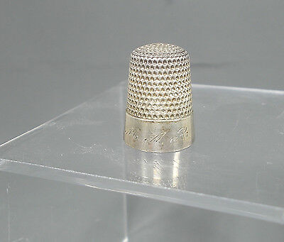 Antique Sewing Thimble Sterling Silver..Star, Mark..Original