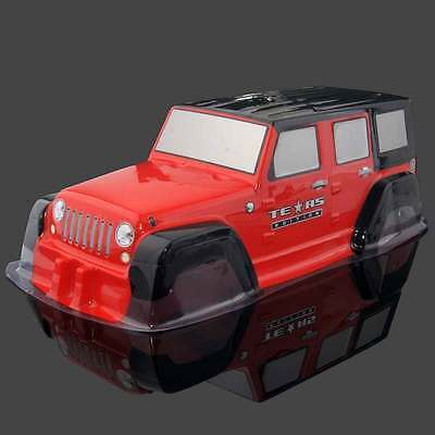 RC D0003 Red PVC Body Shell Wheel base: 313mm For 1:10 Jeep Wrangler