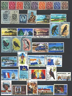 ST. KITTS-NEVIS Collection of 54 Used 1953-2016 Era All Different