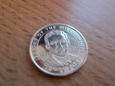 Highly Collectible Millennium Commemorative Coin - HENRY FORD