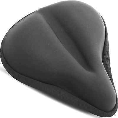 Large Exercise Bike Gel Seat Cushion [ WIDE SOFT PAD ] - Most Comfortable Cover
