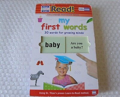 Your My Baby Can Read MY FIRST WORDS SLIDE & LEARN Board Book Development Babies