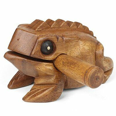 Croaking Frog Giro Musical Instrument, Stroke the back of the Guiro for croaking