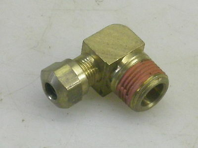 Parker DOT Air Brake Fitting Brass Compression Male Elbow 3/8 NPT x 1/4 Tube