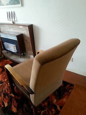 Vintage 1940/50s armchair with oak bentwood arms