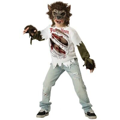 Werewolf Costume Kids Scary Halloween Fancy Dress