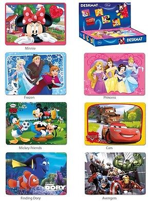 Disney Placemats / Dinner Mats / Desk Mats / 7 Designs 43 x 30 cm Official NEW