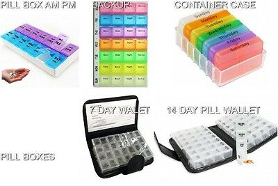 7 14 and 21 compartment day Pill Box / Medicine Box / Tablet Holder UK